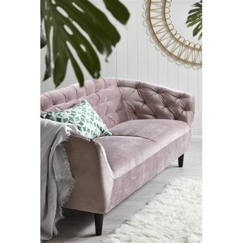 dusty rose studio tufted velvet  seater sofa temple webster