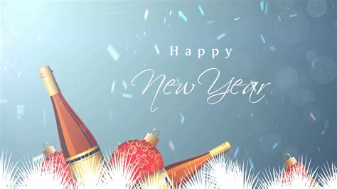 happy  year champagne background motion background storyblocks video