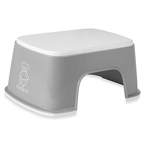 grey stool in toddler step stools gt babybjorn 174 children s step stool in grey