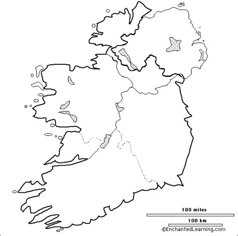 Ie Map Area Outline by Outline Map Research Activity 1 The Republic Of Ireland Enchantedlearning