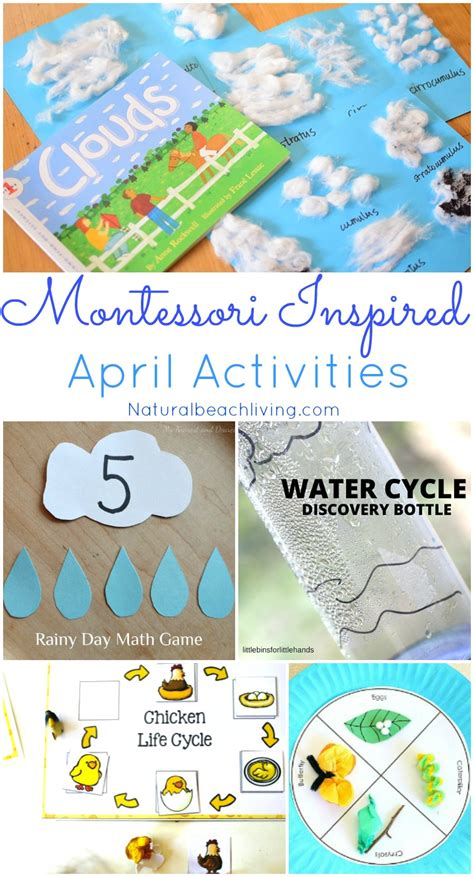 themed events for april montessori themes preschool activities for april natural