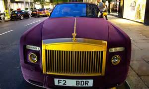 163 300k rolls royce phantom seen in now decked out in purple daily mail