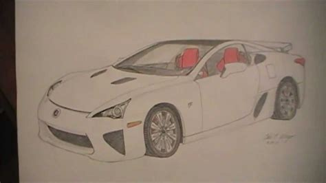 lexus lfa drawing lexus lfa my drawing