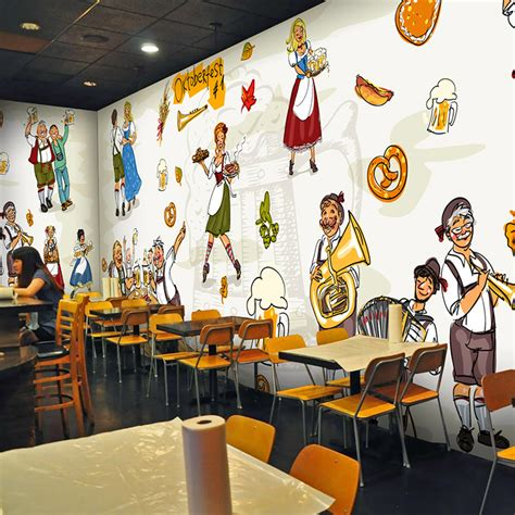 wallpaper design restaurant photo wallpaper vintage german beer restaurant background
