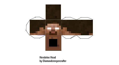 printable herobrine mask papercraft herobrine head d k