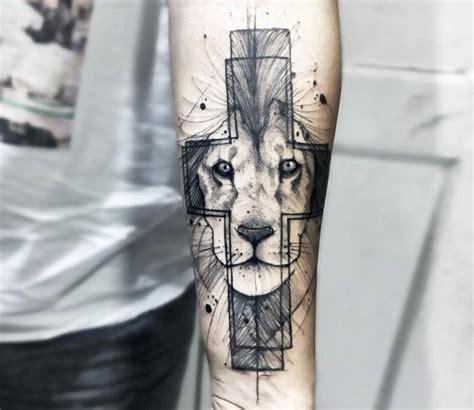 lion cross tattoo in the cross by felipe mello post 18185