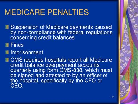 Medicare Credit Balance Form Ppt Compliance And The Revenue Cycle What Does The Compliance Officer Need To Understand