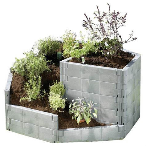 planter beds exaco 174 herb spiral raised bed 214364 decorative