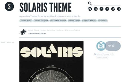 solaris tumblr theme free download a showcase of great looking tumblr themes