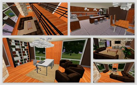 Mod The Sims   The Chocolate Designs!   A warm modern, 2