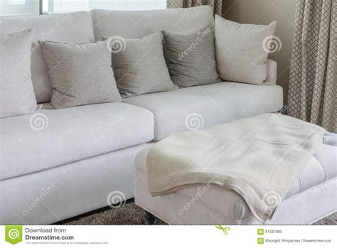 White Sofa Pillows by Classic White Sofa With Pillows Stock Photo Image 61587885