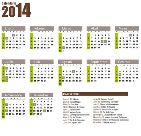 Calendario Colombia 2014 Calendario 2013 De Colombia Almanaque 2013 Festivos