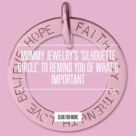 Jewelrys Silhouette Circle To Remind You Of Whats Important by Jewelry S Silhouette Circle To Remind You Of What