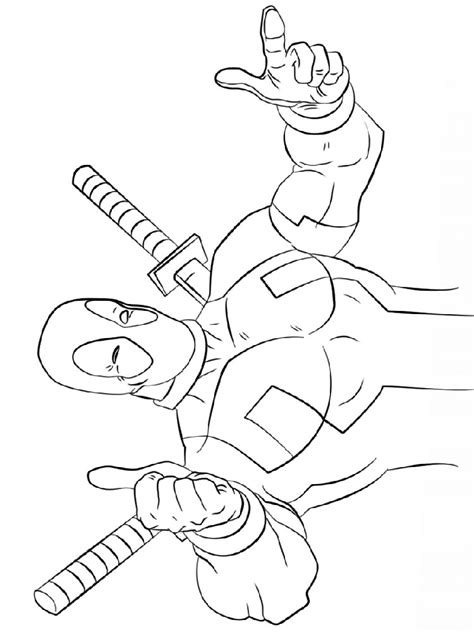 Coloring Page Deadpool by Deadpool Coloring Pages And Print Deadpool