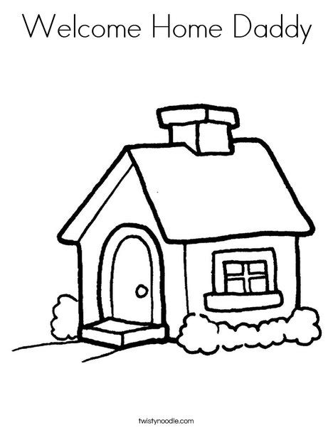 welcome coloring pages printable welcome home coloring page twisty noodle