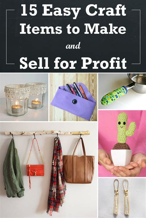 Sell Handmade Products - 15 easy craft items to make and sell for profit