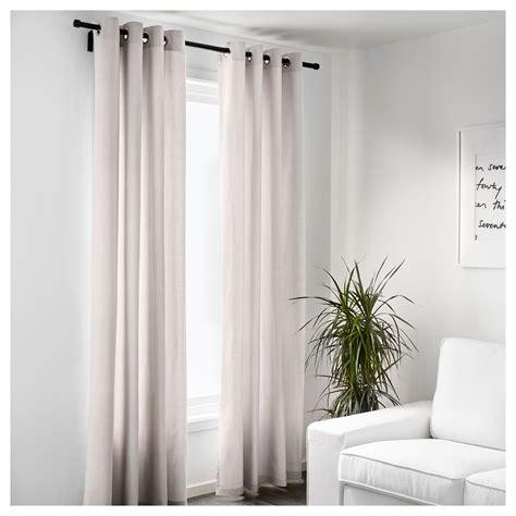 ikea cream curtains merete curtains 1 pair beige 145x250 cm ikea