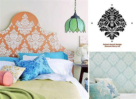 headboard stencils diy stencil pattern images