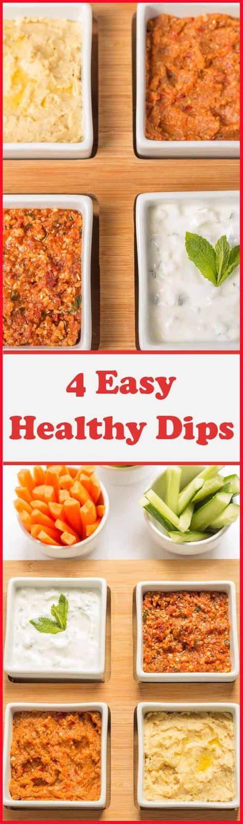 4 easy healthy dips to make neils healthy meals