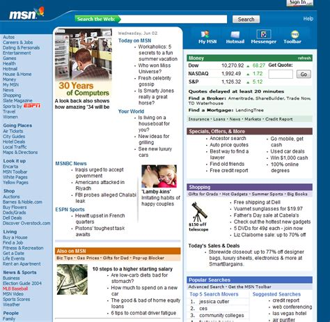 pin msn home page version on