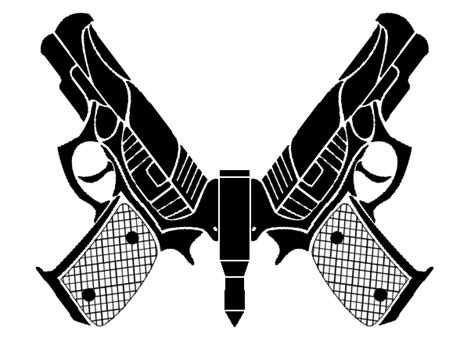 tribal gun tattoos tribal pistolfly by strovecos on deviantart