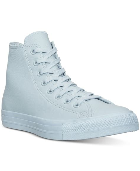 Jaket Convers Line lyst converse s chuck hi pastel leather casual sneakers from finish line in blue