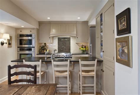 kitchen peninsula with seating galley kitchen with glenside residence kate cleveland architect