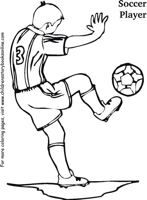 coloring book pages for children soccer player