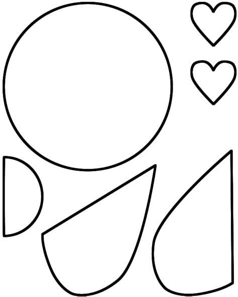 love bug paper craft black and white template