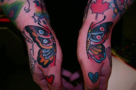 tattoo old school hand old school hand butterfly tattoo by iron age tattoo