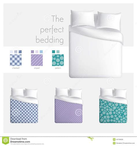 pattern mock up free the perfect bedding stock vector image 44709026
