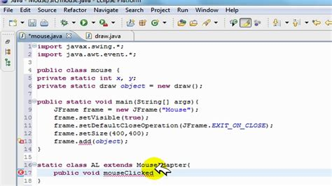 java swing event java swing gui tutorial mouse action listeners creating