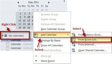 How To Add Calendar In Outlook Collaboration Services Add Resource Calendars In Outlook