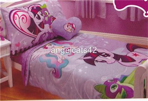 my little pony toddler bedding my little pony 4 piece toddler bedding set ebay