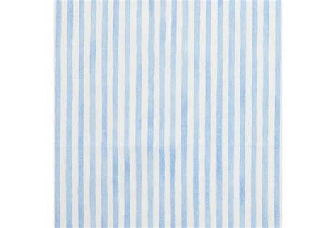 blue pinstripe curtains pinstripe cotton fabric blue white on onekingslane com