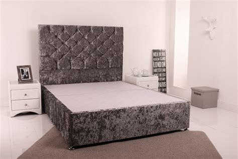 headboards double bed giltedge beds 4ft 6 double divan base crushed velvet fabric