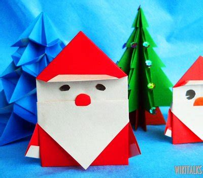 Make Origami Santa Claus - how to make santa claus using origami wiki talks