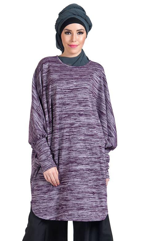 Madina Knitt Tunic By Mezora bat wing viscose knit tunic