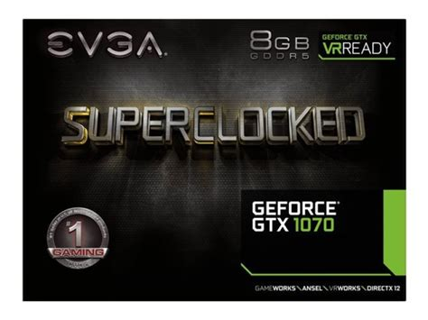 Evga Gtx 1070 Sc Black Edition 8gb Ddr5 256 Bit evga gtx 1070 sc 8gb acx 3 0 black edition graphics card ebuyer