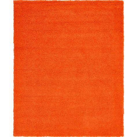 solid orange rug unique loom solid shag tiger orange 8 ft x 10 ft rug 3136663 the home depot