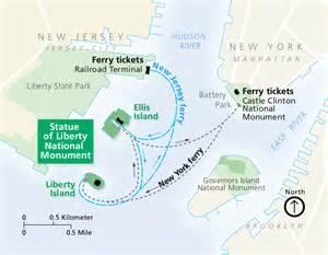 map of liberty statue of liberty and ellis island maps npmaps