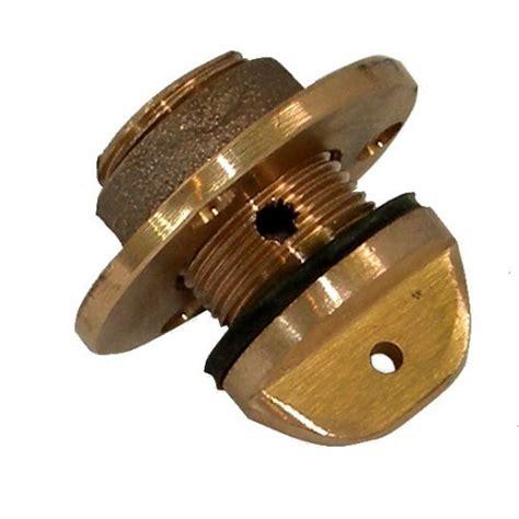 boat drain plug insert bronze drain plug or garboard drain large classic boat