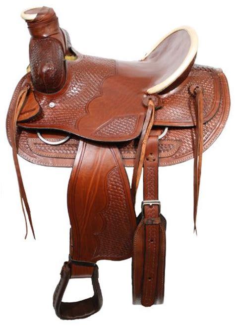 horse saddle 16 quot western bear trap wade style saddle w high back seat
