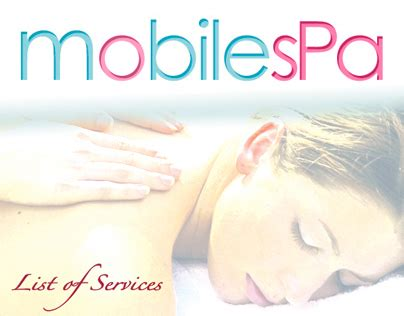 mobil project spa mobile spa services on behance