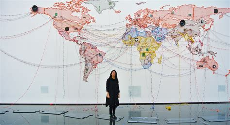 a quality world map installation mumbai artist maps out web of wire at vag offsite