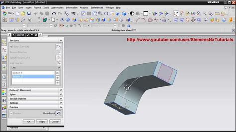 youtube tutorial nx nx swept ug nx training tutorials siemens nx training