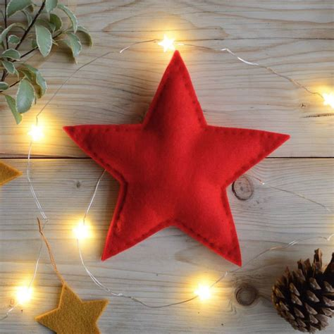 christmas star tree topper red  littlenestbox notonthehighstreetcom