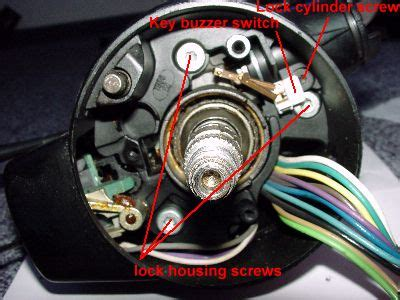 How To Reassemble Ignition Lock Position Of Buzzer