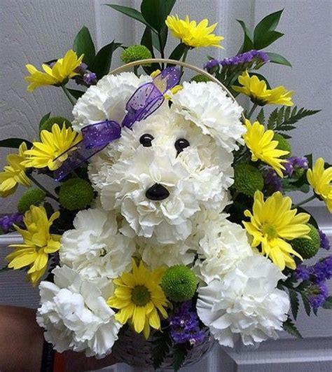 puppy bouquet 25 best ideas about friedhofs blumen auf friedhofs dekorationen grab