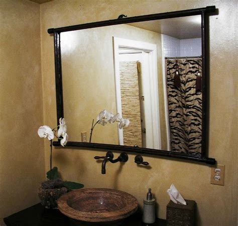 Ideas For Bathroom Mirrors wood bathroom mirror ideas this for all